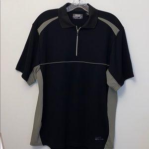Izod Gray + Black Performance Polo Shirt Medium